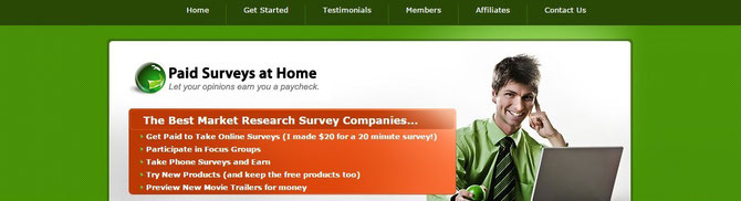 "Detail Review on ""Paid surveys at home"", Is Paid-surveys-at-home Scam or Legit?"