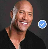 Fake Facebook profile picture of Dwayne The Rock Johnson.