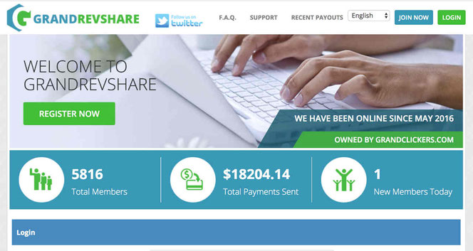 GrandRevShare review. Is Grand Rev Share scam or legit? What is Grand Rev Share?