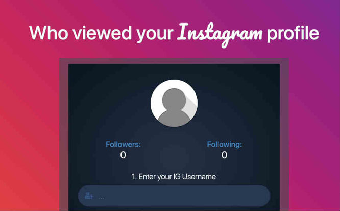 IG Viewer Online Who Viewed your Instagram Profile Tool