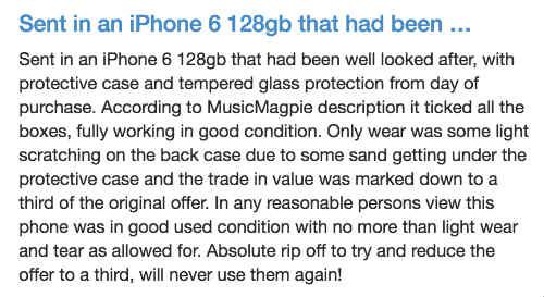 musicMagpie complaints