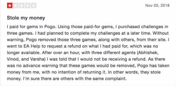 Pogo complaint 3