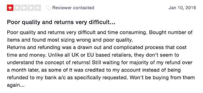 Romwe complaint 5