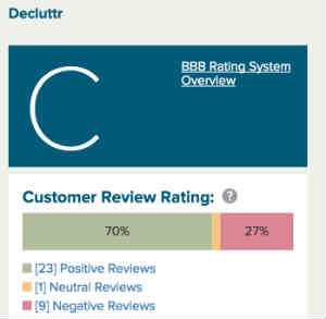 BBB rating for Decluttr.