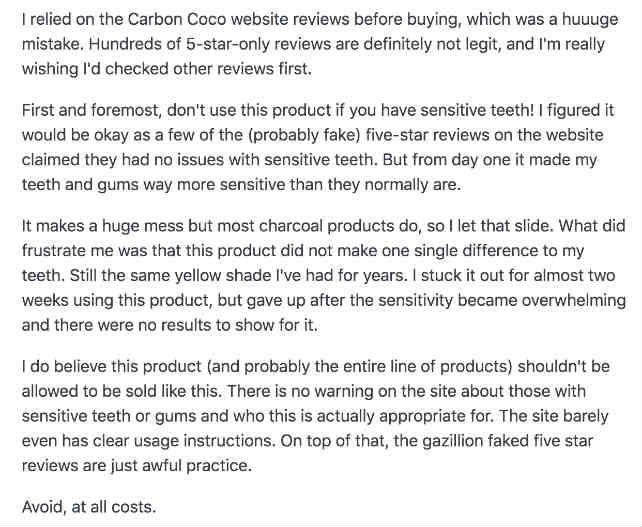 CarbonCoco complaint 2