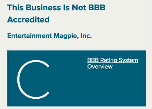 BBB rating of musicMagpie