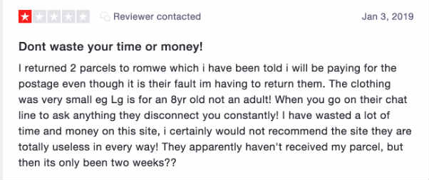 Romwe complaint 3