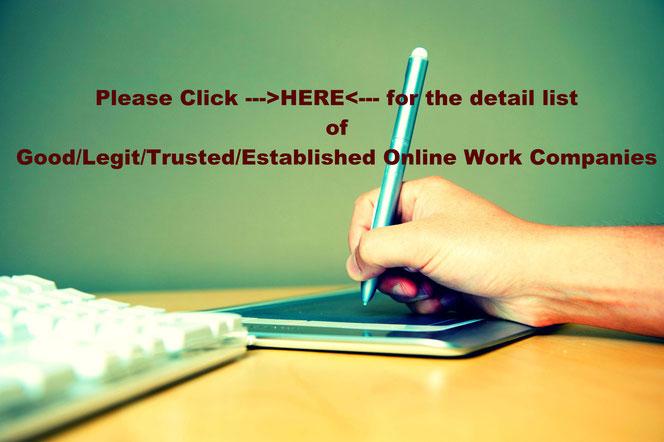 Legitimate Online Works and Businesses