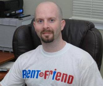 Owner of Rent a Friend, Scott Rosenbaum