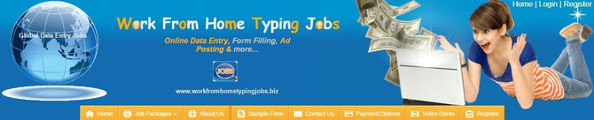 Picture of home page of workfromhometypingjobs. biz